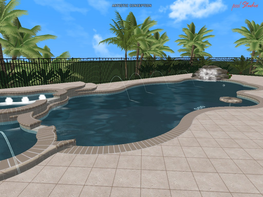 3D Swimming Pool Designs Florida