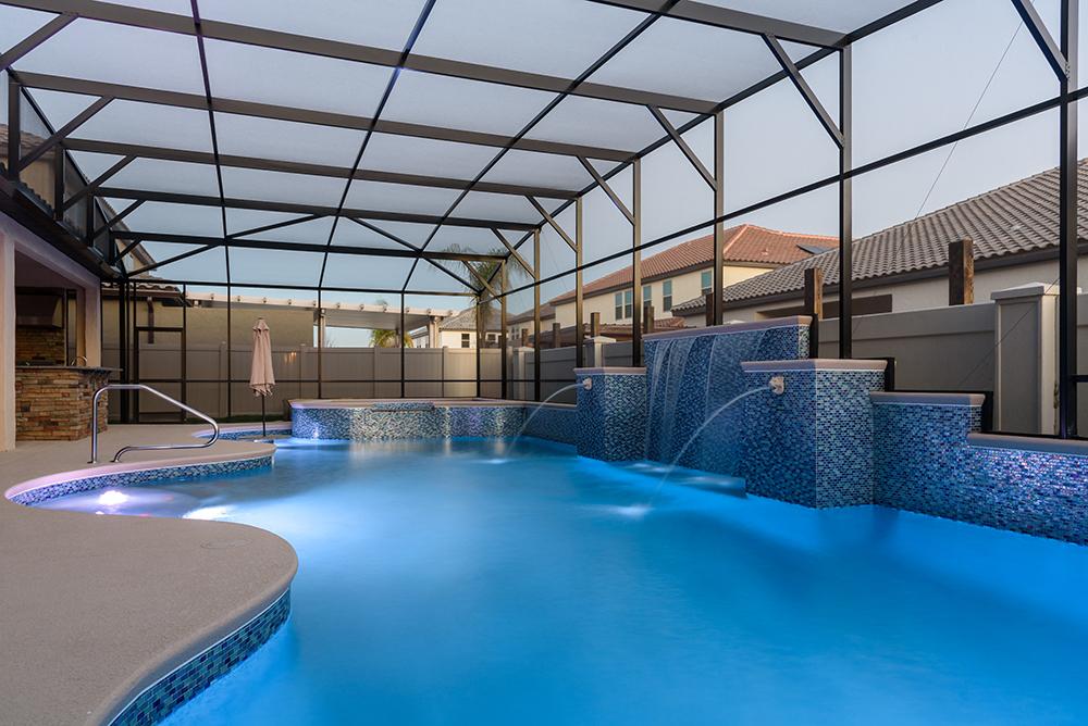 Water features design gallery orlando for Pool design orlando