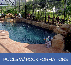 pools with rock formations design gallery